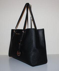 80dc417a3b5867 NWT MICHAEL Michael Kors Genuine Leather Jet Set Travel Large EW Tote  Handbag $195.0 Handbags Michael