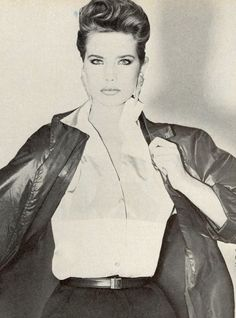 """""""Vogue Patterns: Hard to Find… Great to Have!"""", Vogue US, March 1982Photographer: Marco GlavianoModel: Terry Farrell Happy birthday, Terry! (November 19, 1963, 51 today)"""
