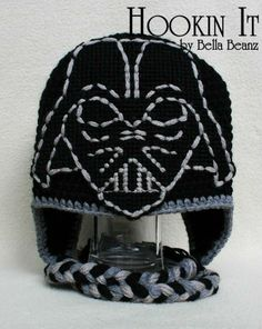 Darth Vader Inspired Crocheted Hat