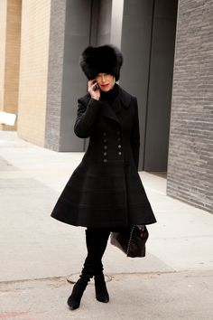 Love the fit and flair coat