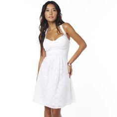 JOLIE Eyelet Halter Dress  from sears!