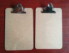 Venta caliente A5 portapapeles MDF panel de escritura menú menú de tablero de clip del archivo portapapeles con la mariposa clip de suministros de oficina(China)