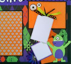 Scared Silly 12x12 premade scrapbook layout page by ohioscrapper