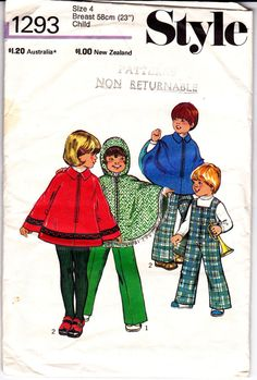 70s Vintage Toddlers Pattern Style 1293 by allthepreciousthings,
