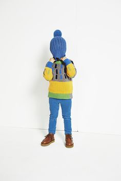Stella McCartney Kids AW - Pebble Freddie Jumper / Blue Sparky Hat and Sandy Munster Shoes. Stella Mccartney Kids, Childrens Party, Kid Styles, Little People, Boy Fashion, Cool Kids, Bag Accessories, Colorful Shirts, Baby Kids