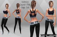 My Sims 4 Blog: Victoria's Secret PINK Yoga Set by lindseeeyx [X] Downloaded