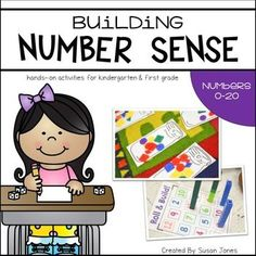 Number sense activities for Kindergarten and 1st grade. These activities are perfect to help students gain awareness of the numbers 0-20.