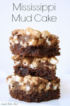 Ooey gooey chocolatey deliciousness- Mississippi Mud Cake #recipe #chocolate