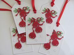 Write Bingo terms on card Christmas Paper Crafts, Christmas Cards To Make, Vintage Christmas Cards, Diy Christmas Gifts, Christmas Tags Handmade, Christmas Holiday, Christmas Ideas, Xmas, Vive Le Vent
