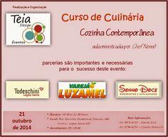 Teia Design: Curso de Culinária  - Cozinha Contemporânea em Lag...