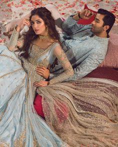Pakistani Engagement Dresses, Indian Wedding Outfits, Stylish Dresses For Girls, Girls Dresses, Desi Bridal Makeup, Indian Aesthetic, Nikkah Dress, Bridal Lehenga Collection, Desi Bride