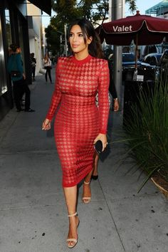 kim kardashian style Weve found the best most-perfect see through dress for every occasion and we even discuss the best ways to style them. Summer Outfits Women 30s, Elegant Woman, Fashion Models, Fashion Outfits, Girl Fashion, See Through Dress, Kourtney Kardashian, Kim Kardashian Style 2016, Kim Kardashian Red Dress