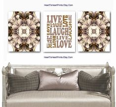 Live Love Laugh Set of 3 Prints Rustic Printable Wall Art | Etsy