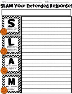 SLAM RESPONSE - GUIDED READING RESPONSE - TeachersPayTeachers.com