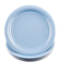 """Light Blue 7"""" Paper Plates - 24 Count . $5.31. Light Blue 7"""" Paper Plates - 24 Count Make your special event a success! These extra strong Light Blue paper plates will complement all your event decorations. Light Blue is the perfect addition to your party. A fun and easy way to add style to your event, this package contains 24 Light Blue 7"""" Paper Plates. Look for matching tableware, decorations, and more (sold separately). Paper plates Light Blue 24 Per package Mea..."""