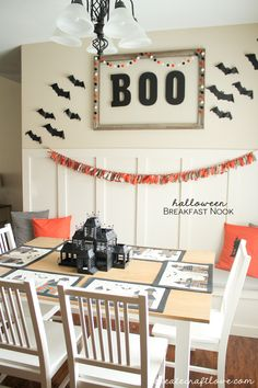 Halloween Breakfast Nook | Create Craft Love