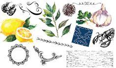 Food Vectors and Decorative Vectors, Patterns and Textures Pack - Design Cuts