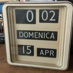 Orologio Solari Udine Dator10 Dator 10 palette Flip clock Mutteruhr Klappzahlen | eBay
