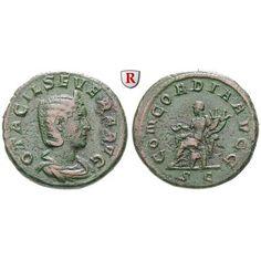 Römische Kaiserzeit, Otacilia Severa, Frau Philippus I., As 246, ss: Otacilia Severa, Frau Philippus I. . Kupfer-As 26 mm 246 Rom.… #coins