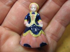 Victorian PORCELAIN DOLL Miniature Playroom Doll French Feve Feves - Tiny Figurine Miniatures  N221 by ValueARTifacts on Etsy
