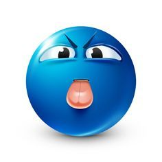 Tongue Out - Blue Smiley Emoticon Faces, Funny Emoji Faces, Funny Emoticons, Smiley Faces, Emoji Man, Smiley Emoji, Blue Emoji, Emoji Love, Android Emoji