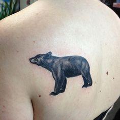 Black Bear Tattoo On Back