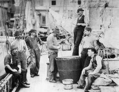 Coastal fishermen from New York. Photo, no date (c. 1900).