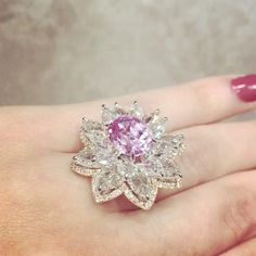 Nirav Modi Via BOLA | 3 Jewelry (@bola3jewelry) on Instagram: BEYOND GORGEOUS !!!PinkDiamond Ring by @niravmodi