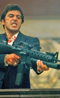 Scarface in Al Pacino, Steven Bauer, Michelle Pfeiffer, Mary Elizabeth Mastrantonio. Michelle Pfeiffer, Iconic Movies, Classic Movies, Great Movies, Al Pacino, Movies Showing, Movies And Tv Shows, Movie Stars, Movie Tv