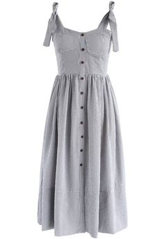 Dashing Darling Cami Dress in Black Gingham- New Arrivals - Retro, Indie and Unique Fashion