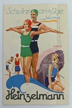 Werbung Heinzelmann Schwimmanzüge   Reklame & Werbung   Sammeln   Aparello