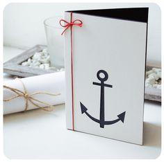 Navy blue anchor card