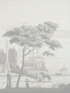 Paul Montgomery Studio grisaille panoramic wallpaper