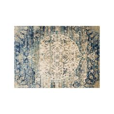 Loloi Anastasia Ornate Traditional Floral Rug, Blue, Durable