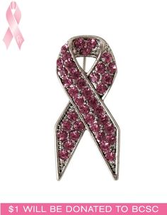 Cleo - Pink Breast Cancer Ribbon Pin