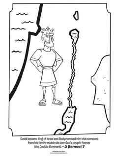 Kids coloring page from What's in the Bible? featuring King David from ...