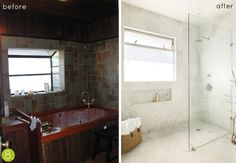 credit: Lori Pepe-Lunche [http://www.designsponge.com/2012/04/before-after-luxe-spa-bathroom-makeover.html]
