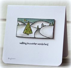 CAS 241 Wonderland by Biggan - Cards and Paper Crafts at Splitcoaststampers