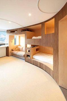 modern bunk room