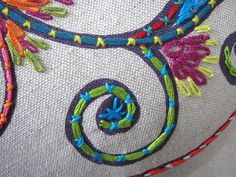 embroidery detail by Prints Charming Original Fabrics, via Flickr