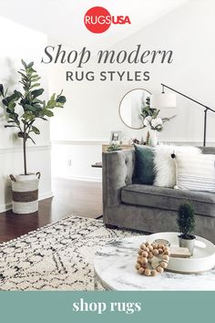 Choose a quality rug to cozy up your space at RugsUSA.com. Tap the Pin to shop now.