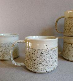 Quail Egg Ceramic Mugs – Set of 4