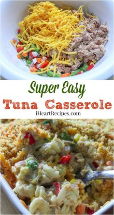 Looking for a quick version of a classic recipe? This delicious rotini tuna noodle casserole is fun and flavorful and will be a hit with the whole family. Tuna Casserole Without Soup, Tuna Casserole Recipes, Casserole Dishes, I Heart Recipes, Easy Recipes, Tuna Recipes, Easy Meals, Healthy Recipes, Celery Soup