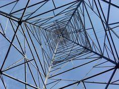 Power transmission tower near Alta Lake, WA