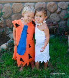 Flinstones costume, carnival for kids - Disfraz de los Picapiedra, carnaval para niños