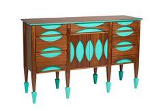 Changing Table // Buffet // Mid-Century Modern // Solid Walnut // Custom // Sideboard // Credenza