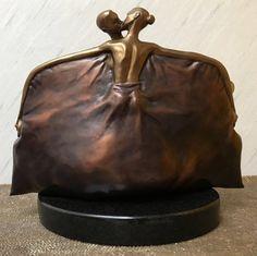 Purse Bronze Sculpture 2004 12in by Vladimir Kush - Bronze