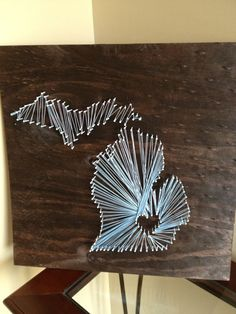 12x12 State String Art Home Is Where Your Heart Is. This would be fun to try :)