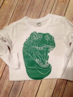 TRex Dino Dinosaur Shirt by SewMacy on Etsy