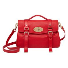 Mulberry - Alexa With Heart Rivets in Red Glossy Goat Hermes Jewelry a7cce2afba0f5